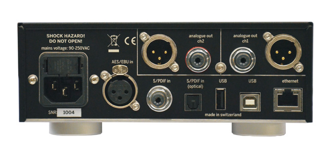 Weiss DAC501 connectique